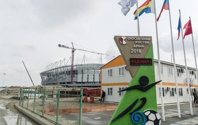 «Желто-синий – самый стильный»: фоторепортаж со стройки главного ростовского спорт-объекта