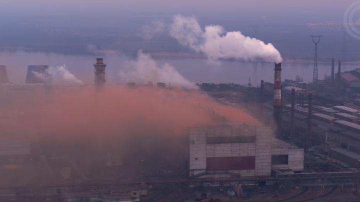 В Волгограде увековечили «фирменный дым» завода «Красный Октябрь»