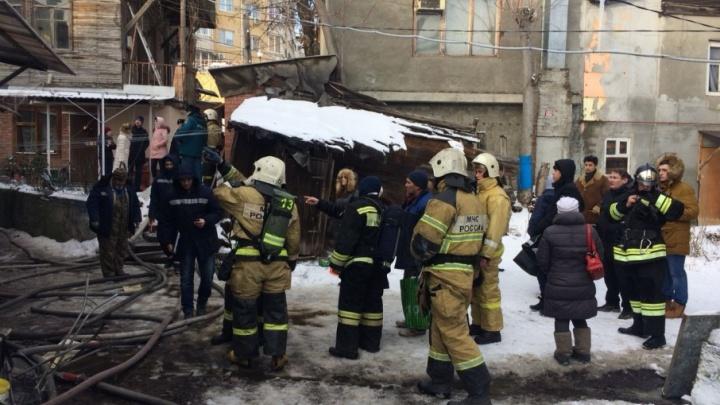 Пожар на улице Красных Зорь потушили