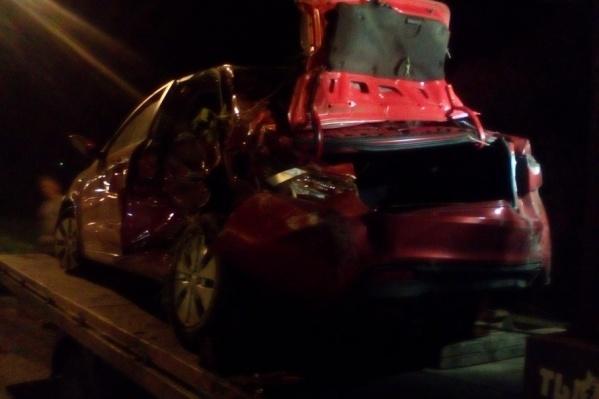 Женщина, находившаяся за рулем, была ранена