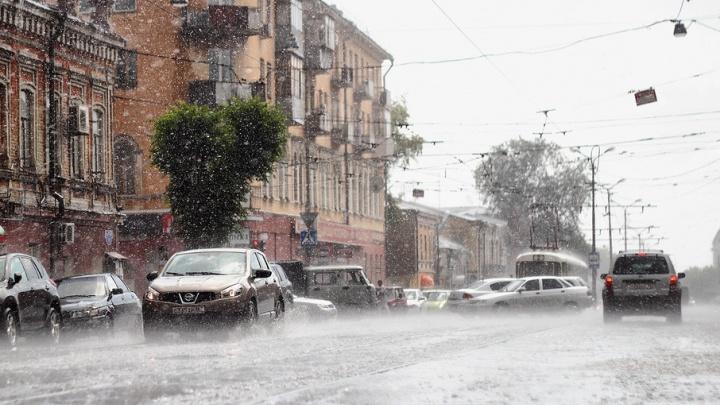 Синоптики прогнозируют на выходные в Самарской области дождь и грозу