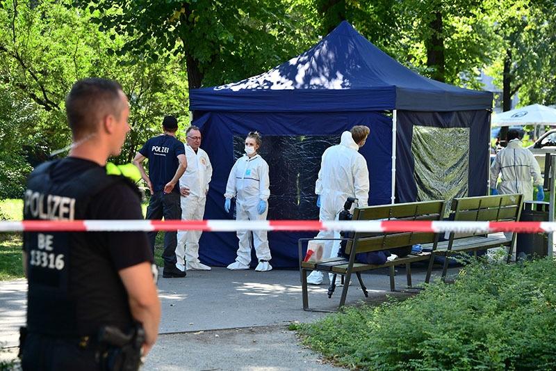 Место убийства в Берлине//EPA/CLEMENS BILAN/ТАСС