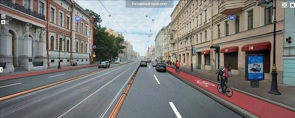 Литейный проспект. Автор иллюстрации - Ольга Боева