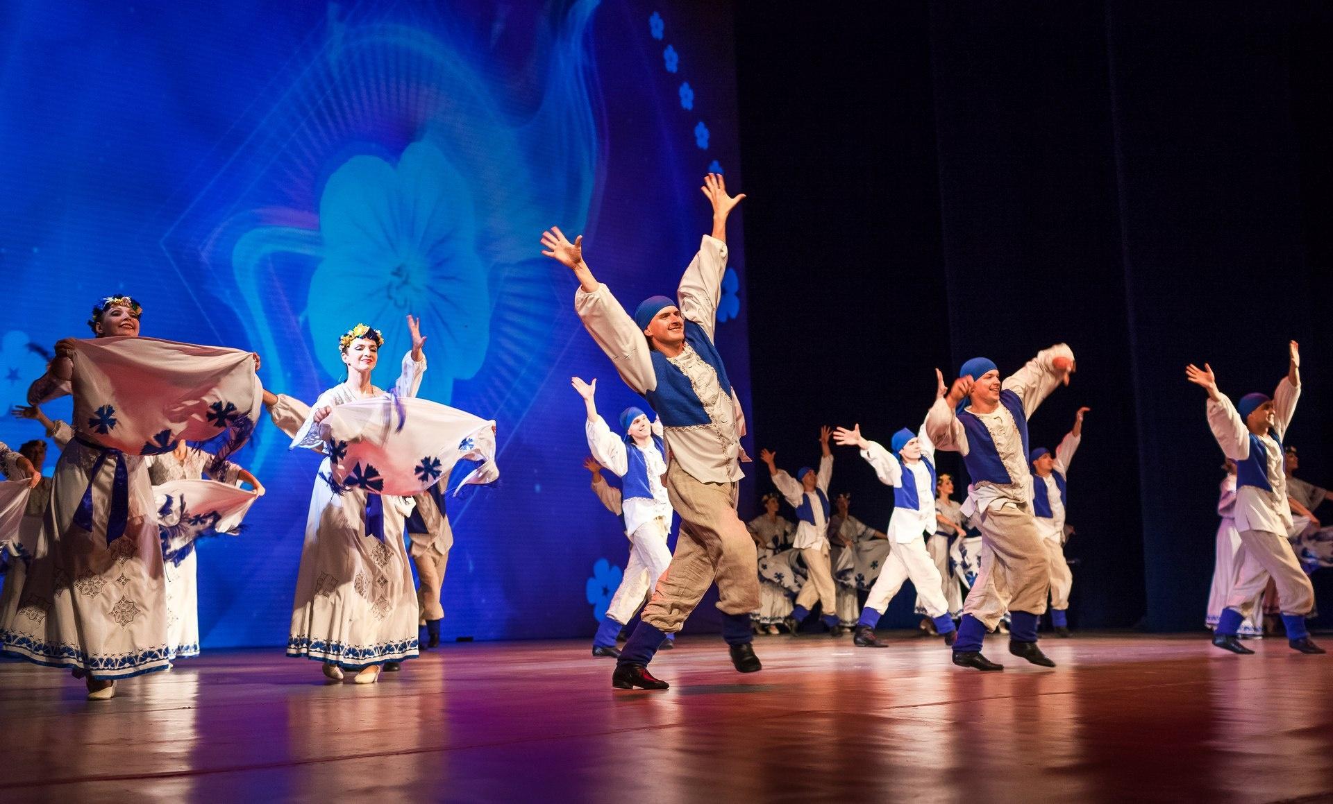Цветы льна - популярный символ в Белоруссии
