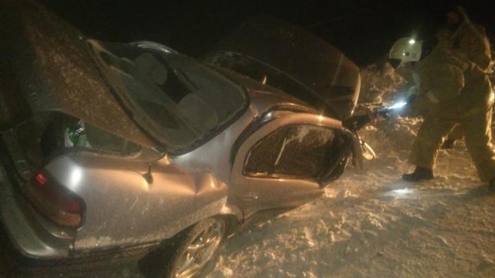 В Устьянском районе «Ниссан-Максима» врезался в столб, двое человек погибли