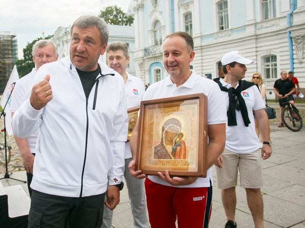 Игорь Албин и Михаил Демиденко на Дне Строителей