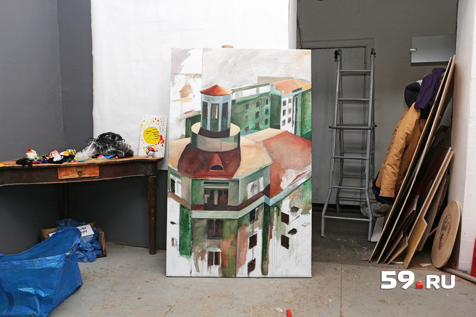 Картина, нарисованная художниками мастерской «Дом грузчика»