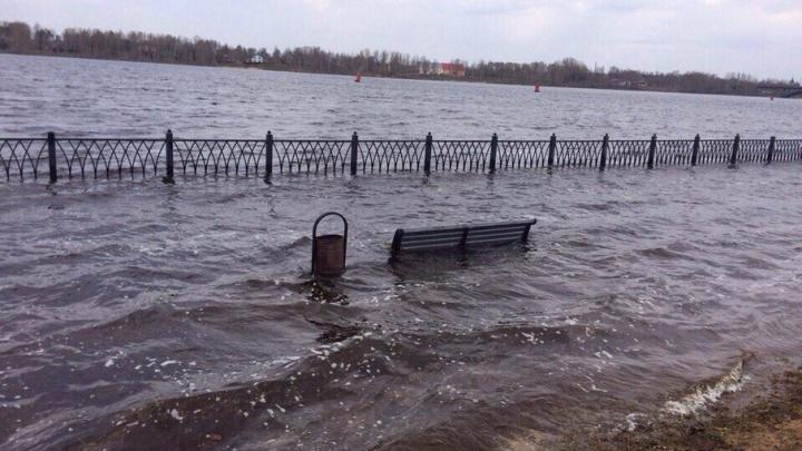 Почему в Рыбинске затопило набережную