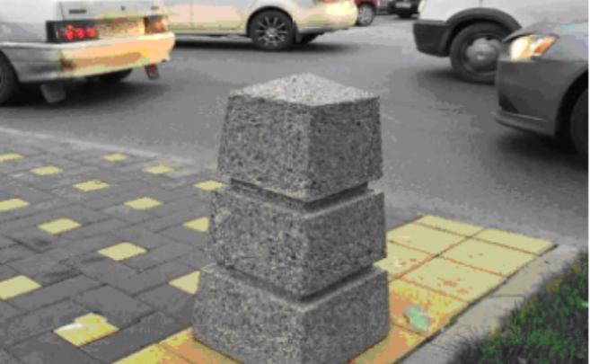 На центральных улицах города установят 72 антипарковочных столба