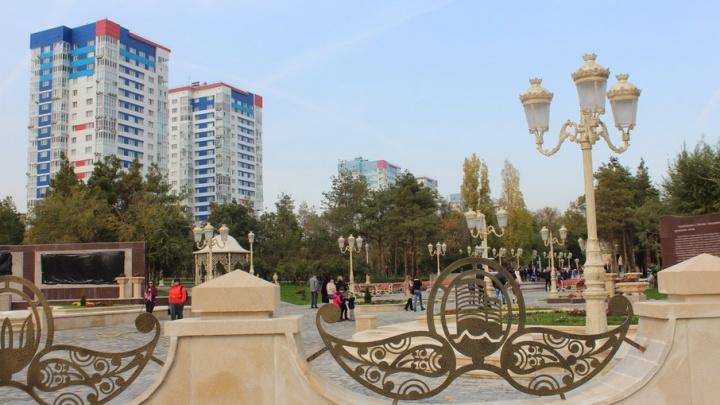 В парке Дружбы: Волгоград-Баку отмечают день рождения Гейдара Алиева