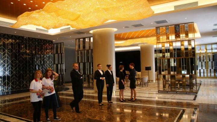 Появились фото внутреннего убранства гостиницы Lotte