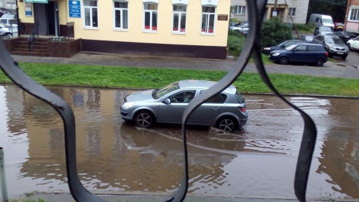 Коммунальщики объяснили, почему улица Некрасова в Ярославле уходит под воду