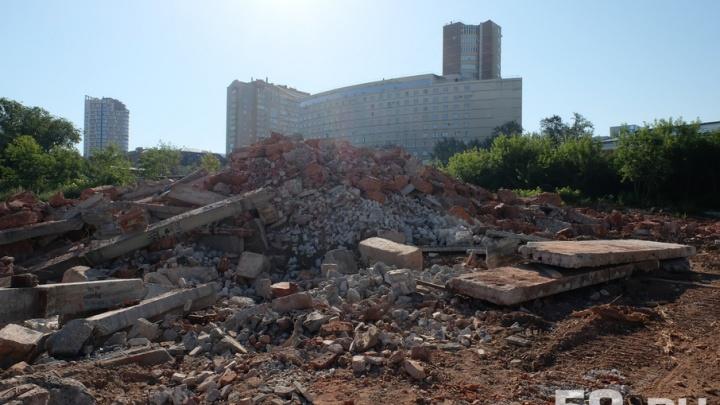 В Перми снесли дом с портретом Есенина: строители заканчивают убирать площадку