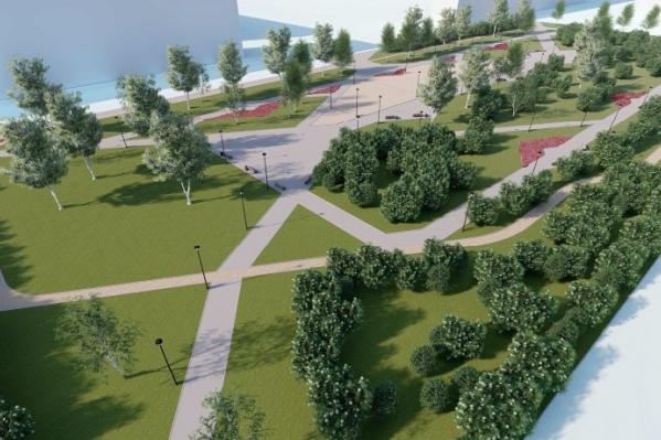 Примерно так будет выглядеть будущий парк