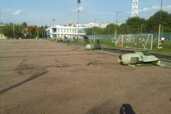 Новый газон подарил Российский футбольный союз Ярославлю бесплатно по программе УЕФА «Хеттрик»