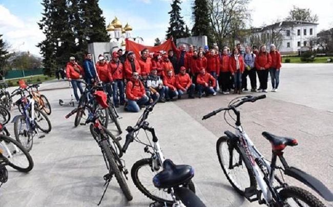 В Ярославле прошел необычный велопробег