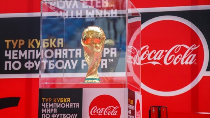 Волгоградцам показали шесть килограммов футбольного золота