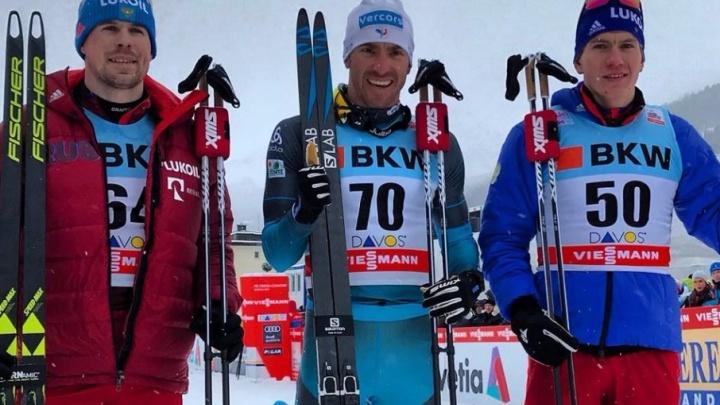 Медаль в каждой гонке: тюменский лыжник Александр Большунов завоевал две бронзы на этапе Кубка мира в Давосе