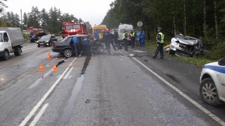 Водитель погиб в лобовом столкновении на М-5