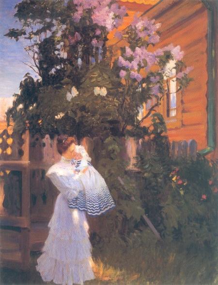 """Борис Кустодиев. """"Сирень"""" (1906)"""