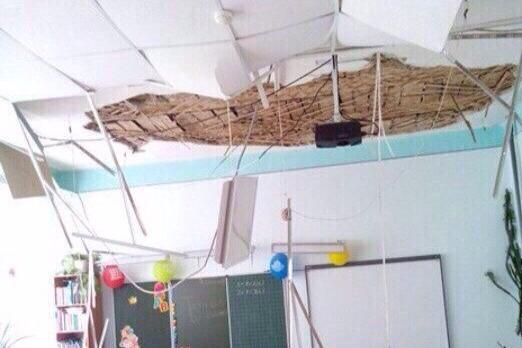 Появилось фото рухнувшего потолка в школе №46 в Самаре