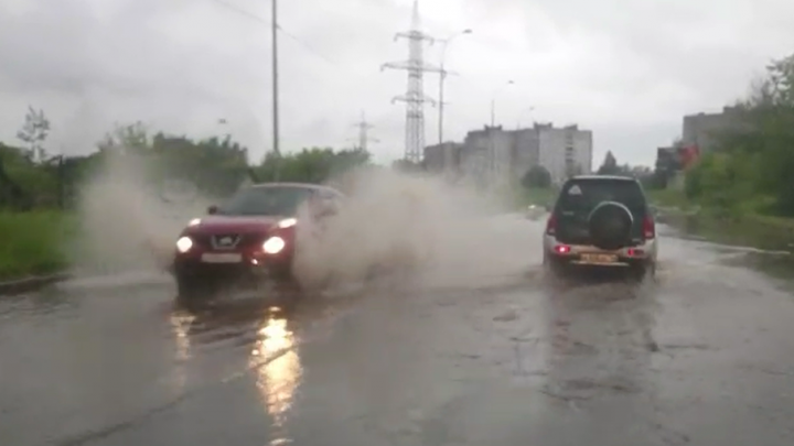 На Ярославскую область обрушился ливень: Рыбинск затопило