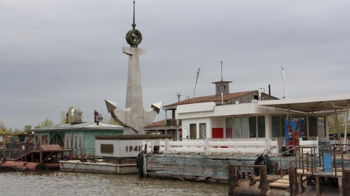 Напротив Волгограда из-за большой воды не поставят памятник речникам Волжской флотилии