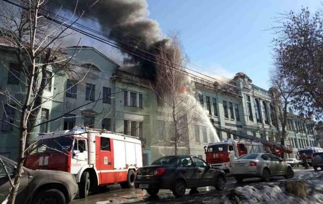 В Самаре здание бывшего реального училища подожгли