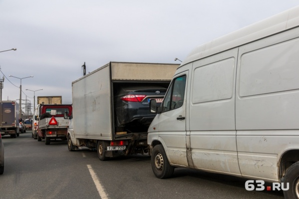 Пробка на Красноглинском шоссе должна уменьшиться