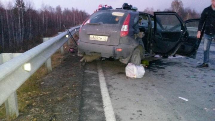 В ДТП на тюменской трассе погибли два человека, еще четверо попали в больницу