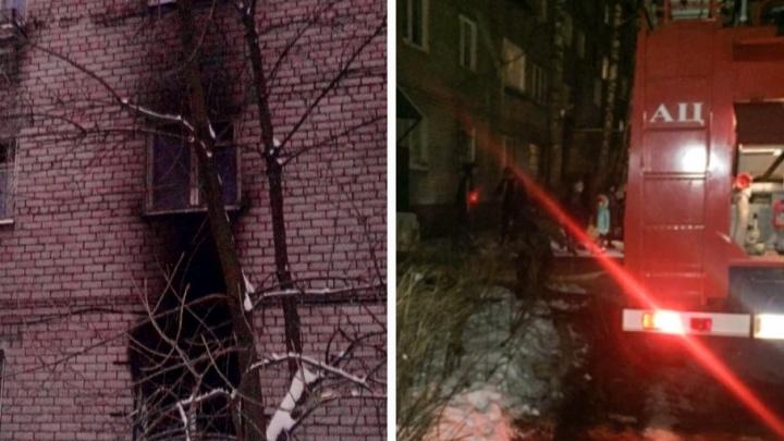 Ночью в Ярославле эвакуировали людей из горящего дома
