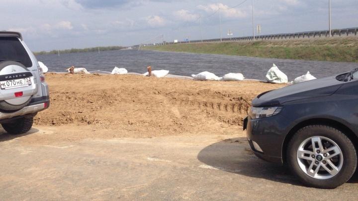 Из-за паводка перекрыли региональную трассу Абатское–Викулово