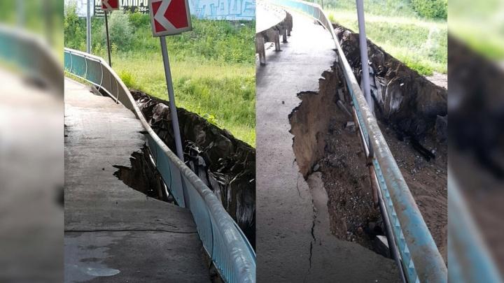В Перми устраняют разрушения, причиненные прошедшим в выходные ливнем