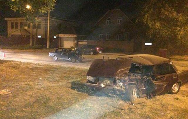 Появилось видео лобового столкновения двух «семерок»  на улице Транзитной