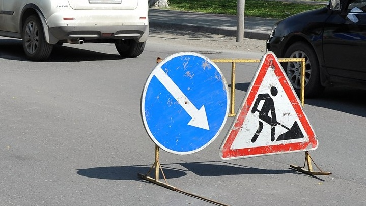 На участке Мельникайте из-за ремонта закроют для движения две полосы