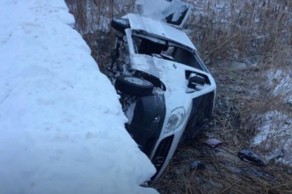 В момент аварии в маршрутке находились восемь человек
