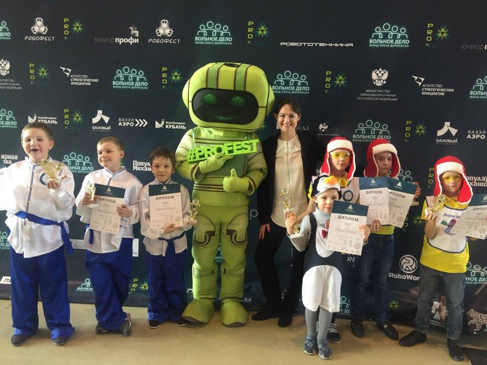 Команды-победительницы в категории Junior FLL