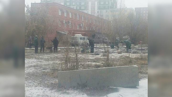 «Это безобразие полное»: на северо-западе Челябинска в середине ноября высадили деревья