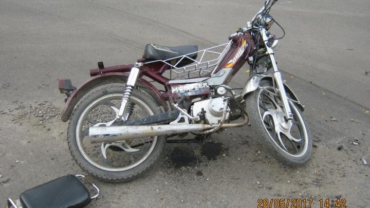 В Котласском районе подросток-мотоциклист не поделил дорогу с водителем «Форда»