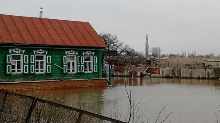 Жители Фролово из-за большой воды стали пленниками собственных домов