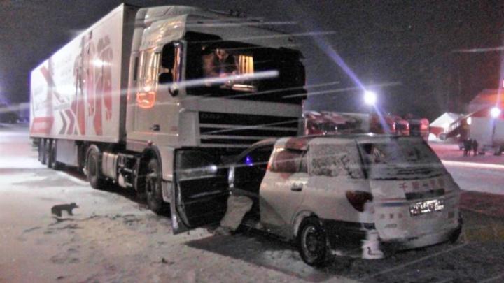 На трассе в Прикамье водитель легковушки погиб при столкновении с фурой