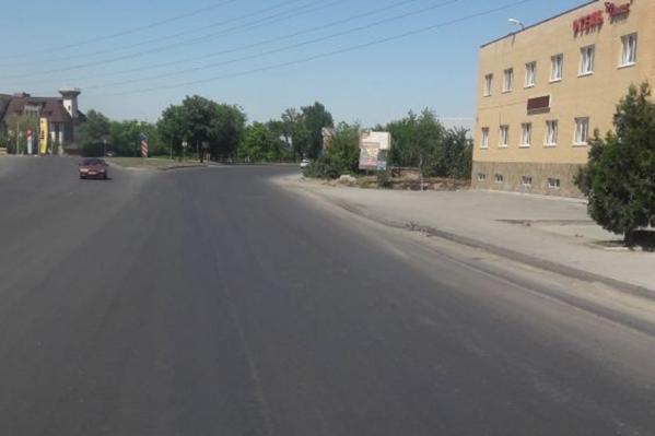 Отремонтированная дорога на улице Малиновского