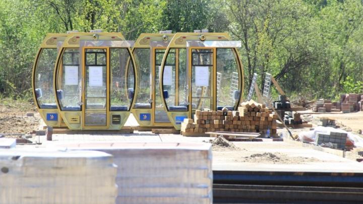 На ярославское колесо обозрения привезли кабинки: как они будут устроены