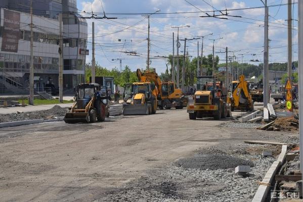 Улицу Репина закрывали на ремонт.