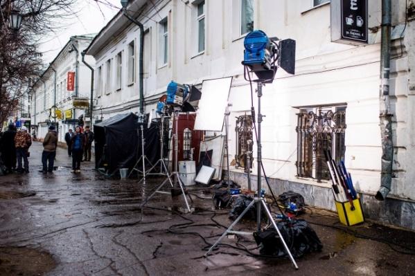 В центре Ярославля снимают кино