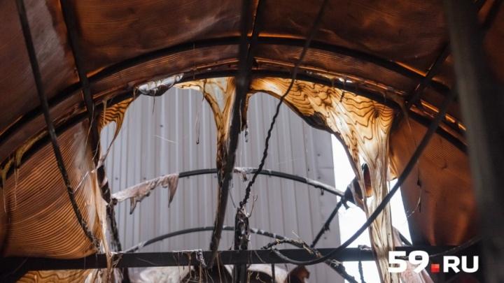 Дом в центре Перми, где произошел пожар, уже горел полгода назад