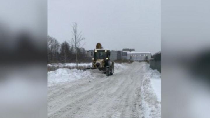 Ярославна за свои деньги заказала трактор, чтобы почистить дорогу