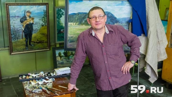 Мастерские пермских художников: рассказываем о заводском живописце Вячеславе Петряеве