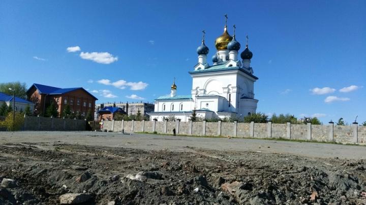 На берегу озера в Челябинске установят пятиметровый поклонный крест