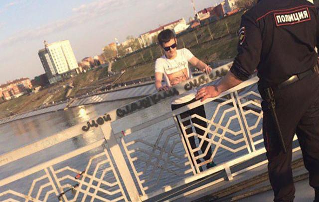 Тюменец, спрыгнувший с Моста влюбленных, находится в реанимации
